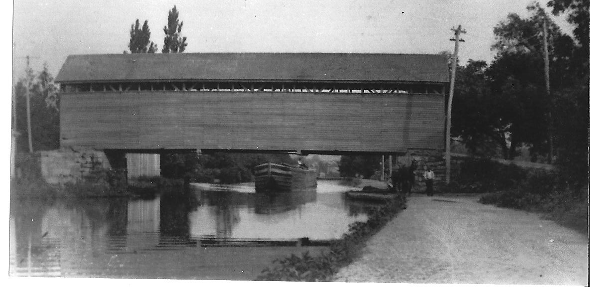 Covered Bridge over canal